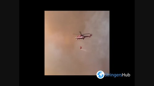 Greece: Firefighting Helicopters Deployed To Assist In Containing Of Wildfire North Of Athens