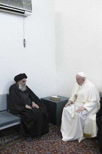 Pope, top Iraq Shiite cleric deliver message of coexistence