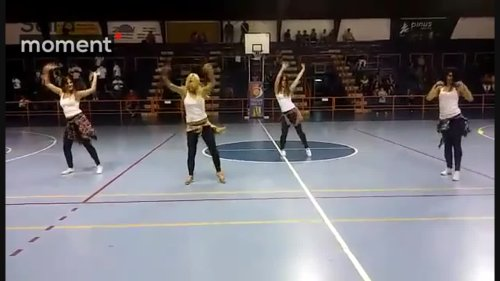 Talented group performs reggaeton dance