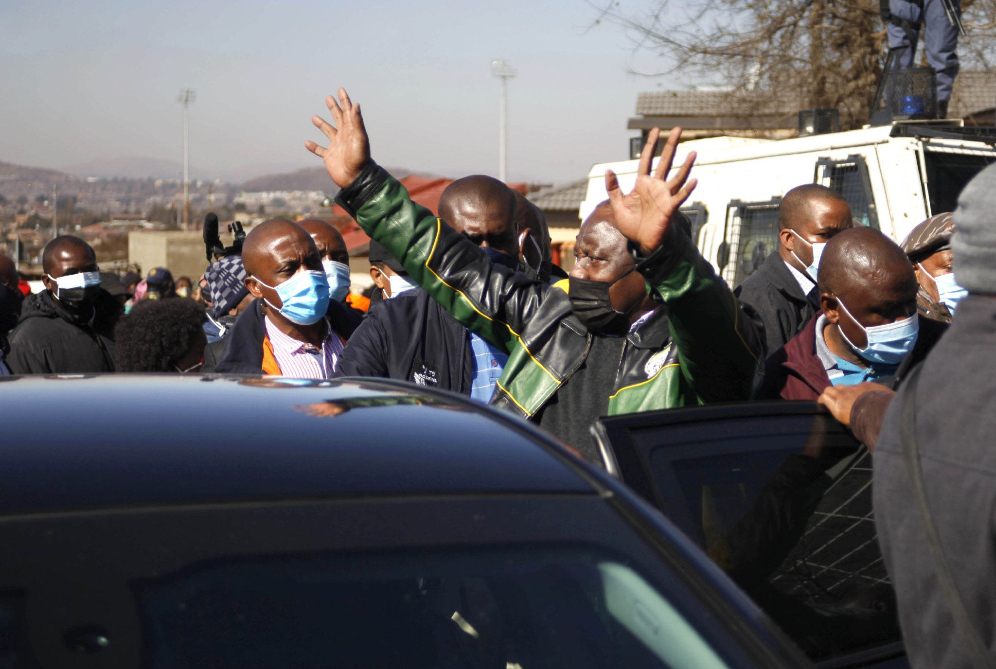 South Africa's leader vows to restore order, catch plotters