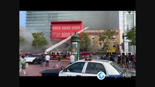 US: 2-Alarm fire breaks out at National Hotel in San Francisco, CA