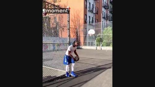 Incredible Basketball shot