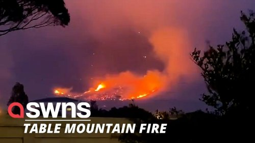 Residents are being evacuated as fires rage near a suburban area in Table Mountain in Cape Town. (RAW)