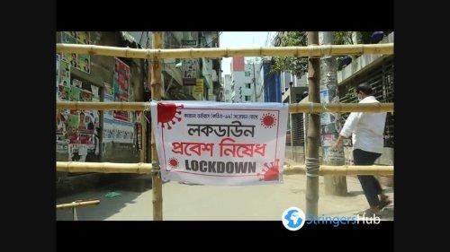 Locals set up bamboo barricades due to coronavirus in Dhaka, Bangladesh 4