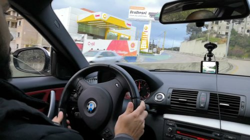 Guy Drifts in a BMW