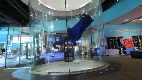 Wingsuit Lover Hovers Upside Down in Wind Tunnel