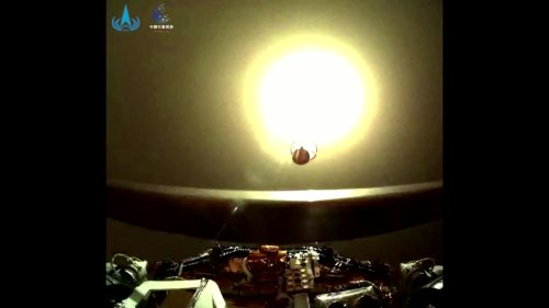 China releases videos of rover on Mars