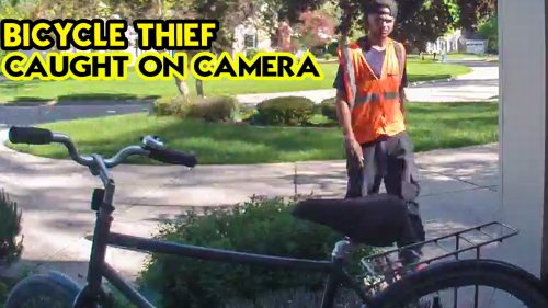 'Bicycle Thief Caught on Camera in Beverly Hills, MI'