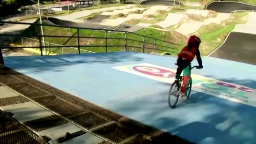 8-year-old BMX star dreams of Olympic gold