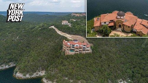 House built into Texas mountain lists for $13 million