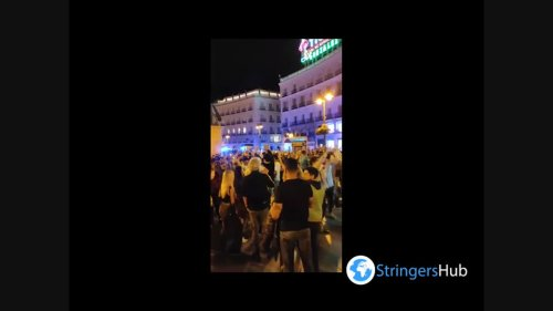 Spain: People in Madrid gather and celebrate lifting of Covid-19 state of emergency