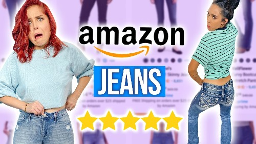 Guessing 1 vs 5 Star Amazon Jeans?!
