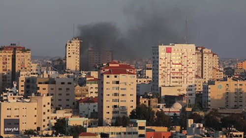 High-Rise Building Collapses in Gaza Following Israeli Strikes