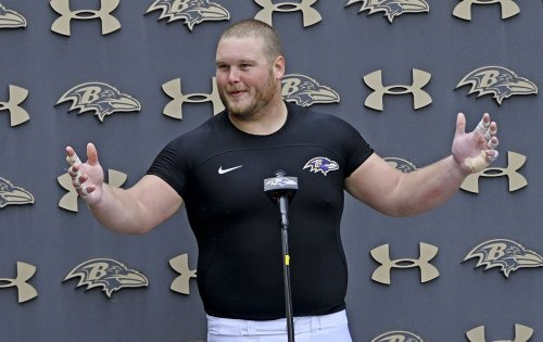 Ravens' Bozeman on getting back to playing center | VIDEO
