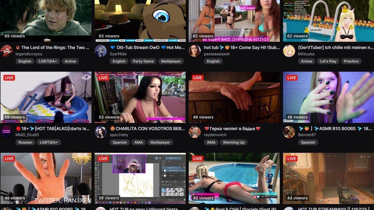 What is the Most Popular Hot Tub Stream on Twitch?