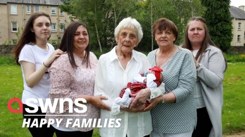 Family becomes one of the only in the UK to have six generations alive at the SAME TIME