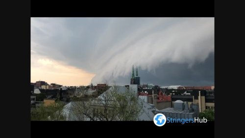 Storm clouds in Helsinki, Finland
