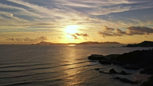 Drone Pilot Captures Mesmerising Sunset View in Japan