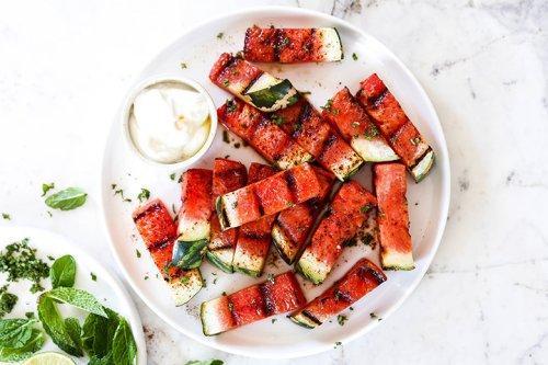 Spicy Grilled Watermelon with Honey-Yogurt | Floating Kitchen