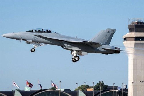 U.S. Navy Takes Delivery Of Block III Super Hornet   Flying