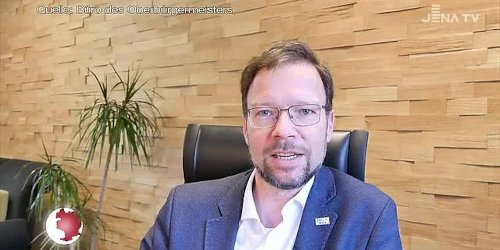 Video-Botschaft: Oberbürgermeister Thomas Nitzsche mit der Hoffnung auf einen Inzidenzwert unter 100