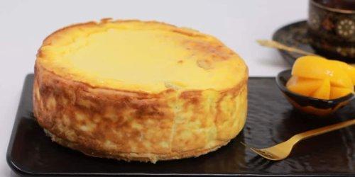 Käsekuchen ist in nur 10 Minuten im Ofen - kalorienreduziert und leicht