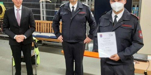 Freiwillige Feuerwehr Sankt Augustin: FW Sankt Augustin: André Fey neuer stellvertretender Einheitsführer in Menden