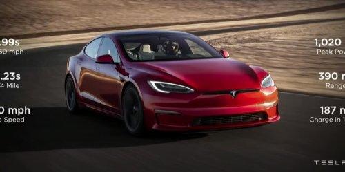 Tesla Model S Plaid kommt mit 1020 PS: Schnellstes Serienauto geht an den Start: Das müssen Sie über den neuen Tesla wissen