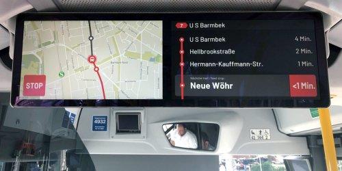 Das können die neuen Monitore der Hochbahn