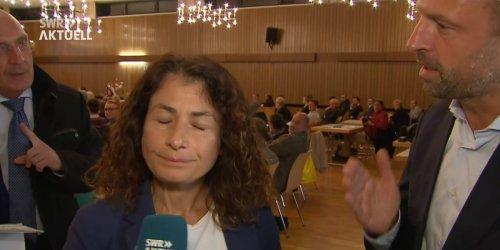 Unangenehme Situation: CDU-Mann bedrängt SWR-Reporterin mitten in Livesendung - Video