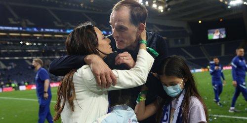 Nach seinem großen Triumph: Emotionale Szenen: Thomas Tuchel feiert mit seiner Familie