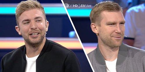 Als ZDF-Experte Kramer über Kollege Mertesacker spricht, wird der ganz verlegen