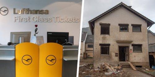 """Geld für Wiederaufbau benötigt: """"Fühle mich verhöhnt"""": Flutbetroffener bittet um Erstattung - Lufthansa lässt ihn abblitzen"""