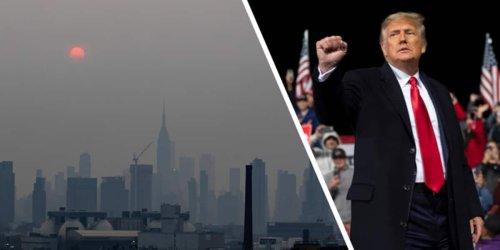 Waldbrände in den USA: New York versinkt in Gift-Wolke und plötzlich glauben sogar Trump-Anhänger an Klimawandel