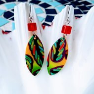 Colourful polymer clay earrings