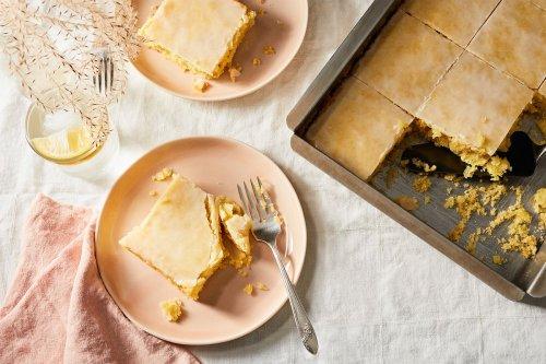 Lemon Velvet Sheet Cake