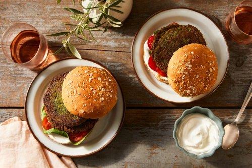 Herby Chickpea Burgers With Lemon Yogurt Sauce