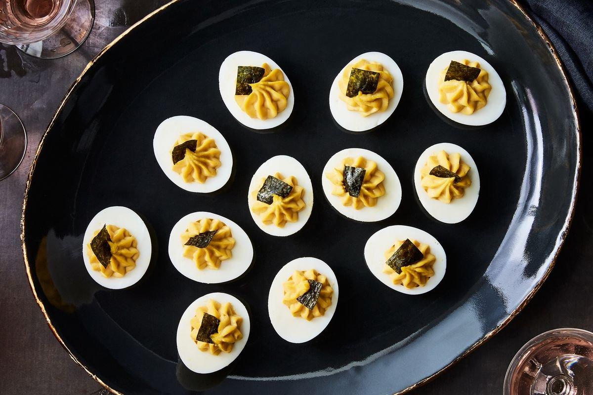 Nori Deviled Eggs