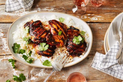Grilled Chicken Thighs With Lemongrass Glaze