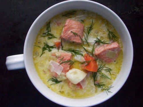 Lohikeitto - Finnish salmon soup