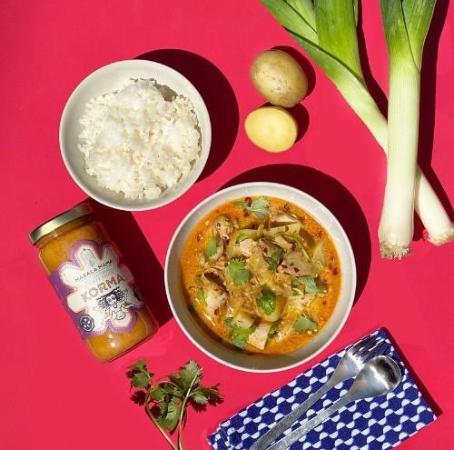 Instant Pot Chicken Leek and Potato Korma