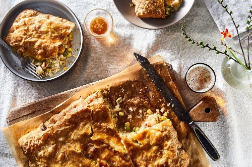 Sheet-Pan Seafood Pot Pie