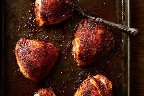 Sheet-Pan Chicken Thighs With Magic Spice Blend