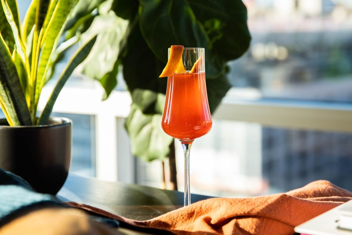 The Fall 75 - Fall Champagne Cocktail