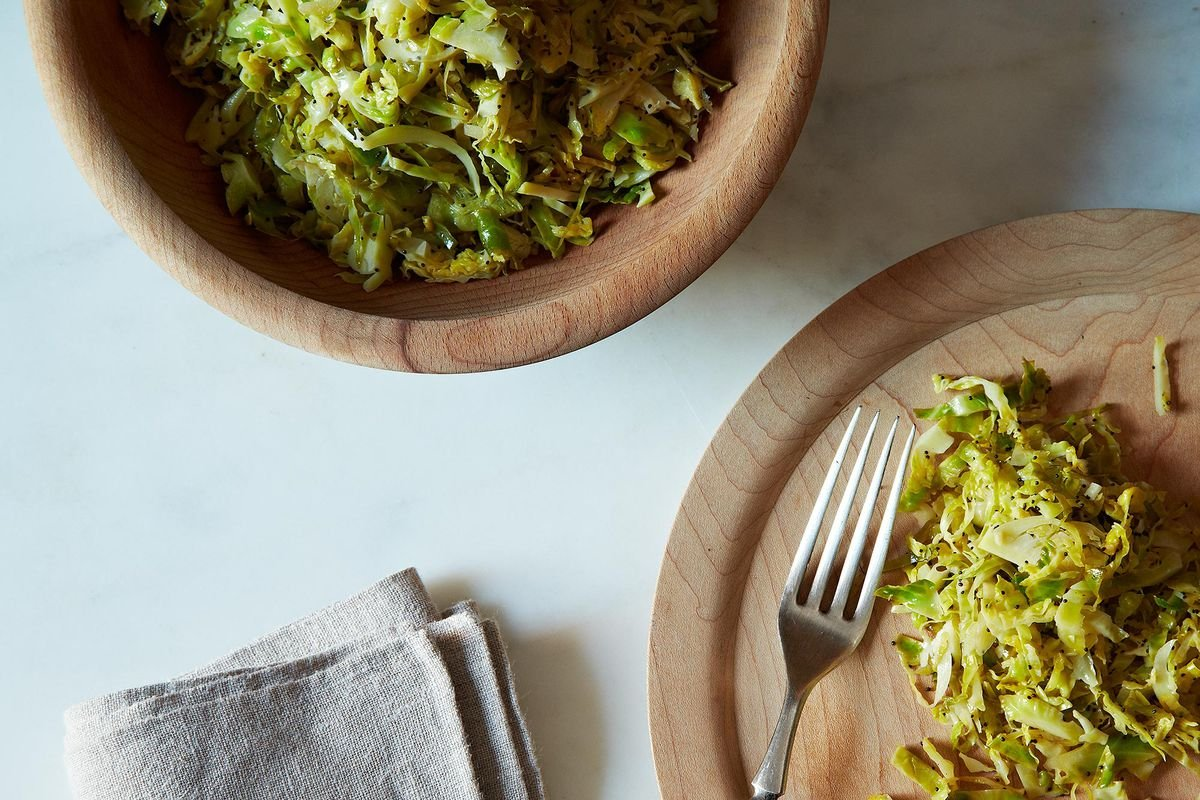Union Square Café's Hashed Brussels Sprouts With Poppy Seeds & Lemon