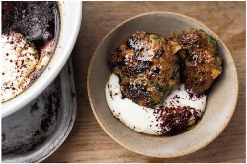 Ottolenghi's Lamb & Pistachio Patties With Sumac Yogurt Sauce