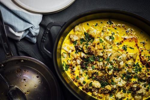 Roasted Cauliflower in Turmeric Kefir