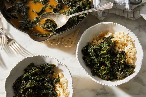 Miso-Braised Kale With Multigrain Rice