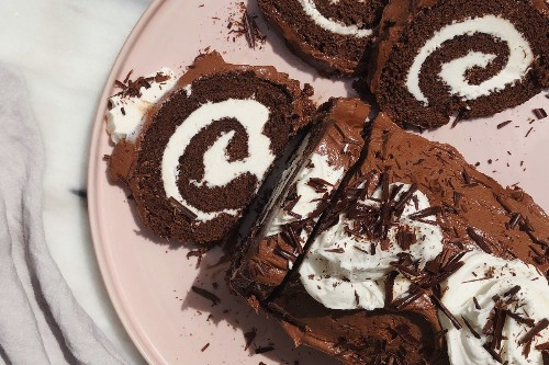 Grandma's Chocolate Swiss Roll