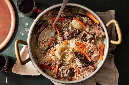 Uyghur Lamb Rice Pilaf
